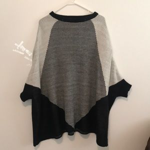 Sweaters - One size black,gray, and white sweater